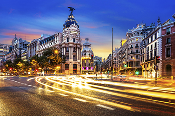 Madrid city center, Gran Via Spain